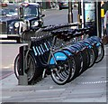 TQ3180 : Barclays Bike Docking Station by Christine Westerback
