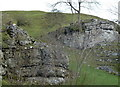SK2274 : Limestone outcrops in Coombs Dale by Andrew Hill