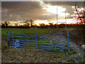 SJ6598 : Gate to the Rugby Field by David Dixon