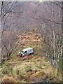 NH4939 : Abandoned van, in Boblainy forest by Craig Wallace