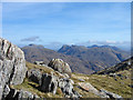 NM8479 : Rocks of north-west ridge of Beinn Odhar Mhòr by Trevor Littlewood