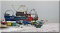 TQ8209 : Boats on Harbour Beach by Oast House Archive