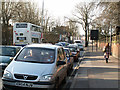 SP0483 : Heavy traffic on Bristol Road, Bournbrook by Phil Champion