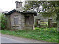 NN8624 : Derelict gatehouse near Hosh by Miss Steel