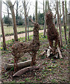 TL3500 : Wicker Deer, Cedars Park, Cheshunt, Hertfordshire by Christine Matthews