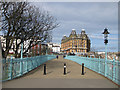 TA0488 : Spa footbridge and The Grand Hotel by Pauline Eccles