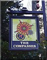 SJ4808 : The Compasses Inn (3) - sign, Hereford Road, Bayston Hill by P L Chadwick