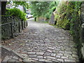 SD9927 : Steep cobbled path by Philip Jeffrey