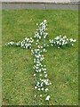 TQ6898 : Snowdrop cross by Marion Haworth