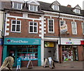 SO9670 : Bromsgrove High Street  First Choice,Langtry's &amp; Shiny by Roy Hughes