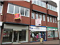 SO9670 : Bromsgrove High Street  Shop to Let, Blue Cross Charity Shop &amp; Premiere People by Roy Hughes