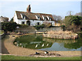 TL3856 : Comberton: ducks and pond by John Sutton