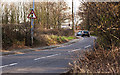 SJ4586 : Traffic lights control a narrow stretch of road by Ian Greig
