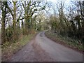 SJ4558 : Chapel Lane near Calveley Hall by Jeff Buck