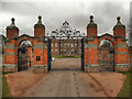 SO9463 : Hanbury Hall Gateway by David Dixon