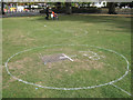 SP3165 : Circles on the grass, Pump Room Gardens by Robin Stott