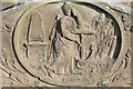 SO8543 : Gravestone detail by Philip Halling