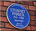Photo of Stewart Parker blue plaque