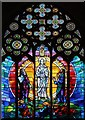 TQ2383 : Church of the Transfiguration, Chamberlayne Road - Stained glass window by John Salmon