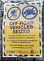ST1792 : Off-road vehicles seized notice, Ynysddu by John Grayson