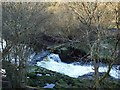 NS8581 : River Carrron, Larbert Weir (Ruin) [4] by Robert Murray