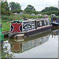 "SJ7362 : Narrowboat ""Shackleton"" moored near Sandbach, Cheshire by Roger  Kidd"