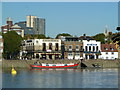 TQ2278 : Hammersmith riverside pubs by Mark Percy