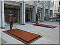 TQ2980 : Sculptures in Economist Plaza, London by PAUL FARMER