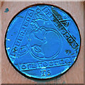 NZ2664 : Time Trail disk on M.M. at Ouseburn by Keith Edkins