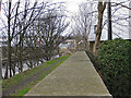 SE2421 : Riverside footpath by Pauline Eccles