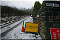 SE0025 : &quot;No Through Route&quot; sign on Park Lane, Mytholmroyd by Phil Champion