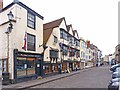 ST5545 : Old Shops and Inn at Wells by Mike Smith