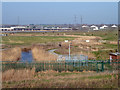 TQ5479 : View over Aveley Marshes by Robin Webster
