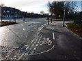 SJ8293 : A pointless cycle path on Mauldeth Road West, Chorlton by Phil Champion