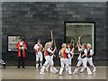 TQ8209 : Morris Dancers outside the Jerwood Gallery by Oast House Archive