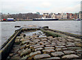 TQ3180 : Stone Setts by the River by Des Blenkinsopp