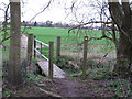 TL9905 : Footbridge at exit from Curry's Copse by Roger Jones