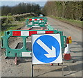 SP7014 : Roadworks at Ashendon by Graham Horn