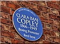 Photo of Clara Copley blue plaque
