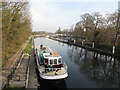 TQ1671 : Shipping lane at Teddington weir by Stephen Craven