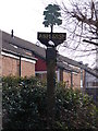 TM3762 : Ash Rise sign by Adrian Cable