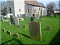 TQ6073 : Churchyard of St Peter and St Paul, Swanscombe by Ian Yarham