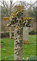 NT7749 : An Ornate Cross In Fogo Kirkyard by James T M Towill