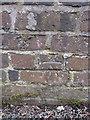 SJ5659 : Bench mark on Tilstone Bank railway bridge by John S Turner