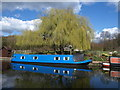 TQ1683 : Narrowboat near Ballot Box Bridge by Derek Harper