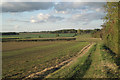 SP4476 : Fields northwest of Church Lawford by Robin Stott