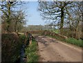 ST0306 : Bridge over stream near Wheatcroft Farm by Derek Harper