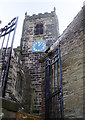 SJ9995 : Mottram Church Tower by Stephen Burton