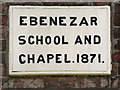 SD5804 : Ebenezar School and Chapel - Datestone by David Dixon
