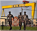 J3574 : Titanic Yardmen sculpture, Belfast (1) : Week 13
